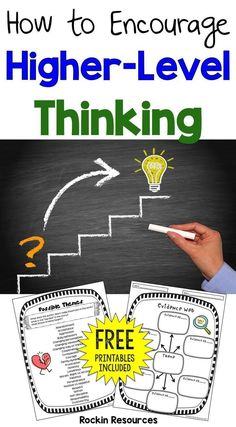 How to Encourage High-Level Thinking - Minds in Bloom Visual Thinking, Thinking Skills, Critical Thinking, Thinking Strategies, Deep Thinking, Interactive Writing Notebook, Depth Of Knowledge, Higher Order Thinking, Teaching Resources