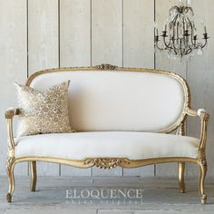Furnish your living room with elegant and stylish sofas and settees from The Bella Cottage. We carry one-of-a-kind vintage sofas, French-style settees, distressed vintage seating, and elegant Louis XVI settees. Victorian Furniture, French Furniture, Classic Furniture, Cheap Furniture, Rustic Furniture, Luxury Furniture, Furniture Stores, Modern French Interiors, Vintage Settee