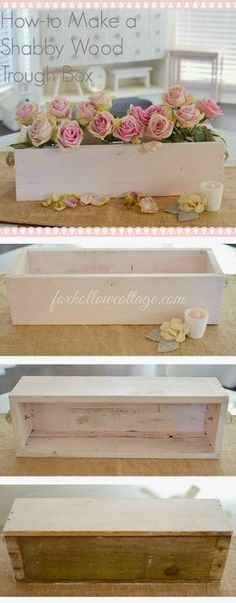 Best DIY Projects: How To Make a Shabby Wood Trough Box