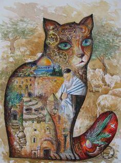 CHaT ISRAEL - Painting,  24x32 cm ©2007 von Oxana Zaika -  Malerei