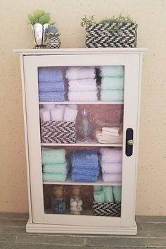 Miniature Linen Cabinet Dollhouse Linen Cabinet Dollhouse