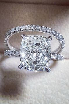 Beautiful cushion cut engagement ring
