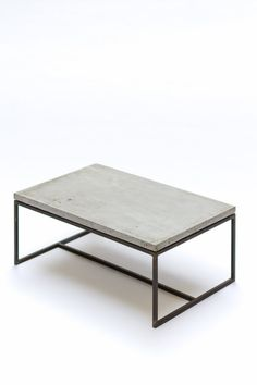 Coffee table  concrete and steel by labor117 on Etsy