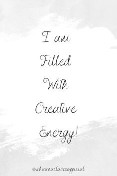 """"""" I am filled with creative energy""""   If you love this then don't forget to follow, share and pin it!!   #dailyaffirmations #affirmations #affirmation #lawofattraction #loa Inspirational Quotes For Women, Motivational Quotes, Virgo Moon, Love Affirmations, Alternative Therapies, Love You, My Love, Woman Quotes, Te Amo"""