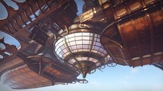 Steampunk Airship by Jerome Pourchier in Environments - UE4 Marketplace