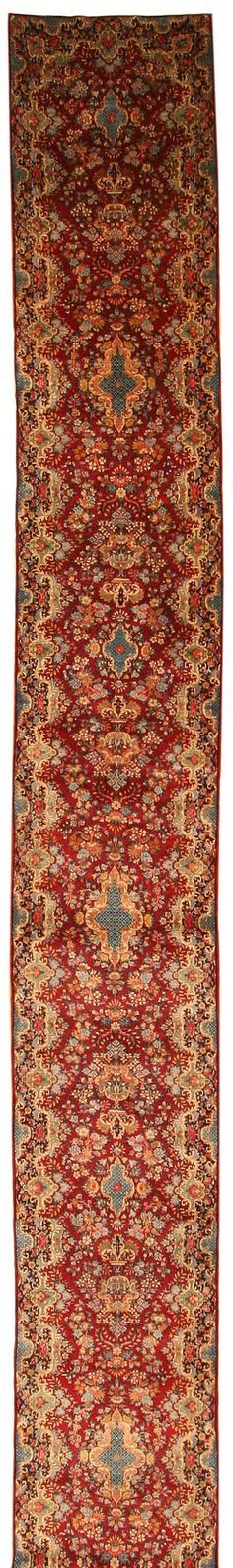 View this beautiful fine antique Kerman Persian long runner rug 43853 from Nazmiyal's fine antique rugs and decorative carpet collection.