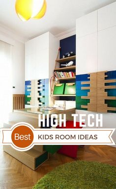 High Tech Interior Design is a modern design trend with focus on cutting-edge technology, straight lines, clear geometric shapes and futuristic furniture. Living Room Interior, Interior Design Kitchen, Modern Interior Design, Interior Decorating, Estilo High Tech, Futuristic Furniture, Home Gadgets, Kids Room Design, Room Ideas Bedroom