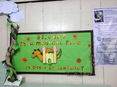 welcome to a magical year bulletin board preschool