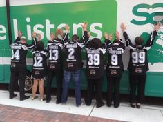 Rocking the Sage Canada hockey jerseys on the #SageListens RV Stop in Toronto. Can you say #ParkingLotParty?