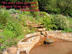 Thomas Fuller quote - We never know the worth of water...