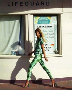 #fashion #women #clothing #inspiration #mode #elle #trend #green #jungle #Palm Print