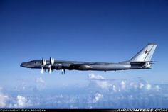 "Russian Air Force Tupolev Tu-95K ""Bear B"", 11 BLACK. Pacific Ocean - International Airspace. Soviet Bear-B in the ""Bear Box"" off Guam. US Navy aircrew had a lot of respect for their Soviet counterparts who flew these magnificent aircraft out from Siberia. August 10, 1985"