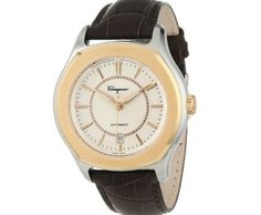 """Salvatore Ferragamo Men's """"Lungarno"""" Stainless Steel and Gold Ion-Plated Automatic Watch ►► http://www.gemstoneslist.com/mens-watches/salvatore-ferragamo-mens-watches.html?i=p"""