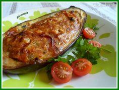 Lilek s tvarůžky a rajčaty (fotorecept) - Recept