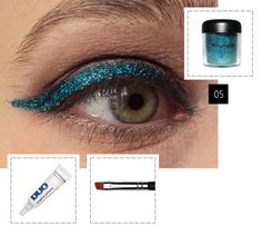 this could actually turn into a cute idea for a party . just use eyelash glue and glitter