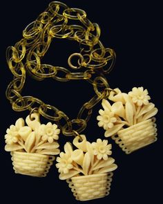 vintage celluloid necklace