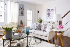 Love, love this living room. Click for more pictures from the house tour of Brooklyn Blonde's Helena Glazer.