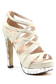 Luichiny On My Mind High Heel Sandals In Natural