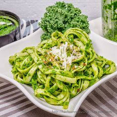 Herbivore Cucina: Fettuccine in Kale Spinach Pesto Pesto Sauce, Pesto Recipe, Pesto Dishes, Kale Recipes, Pizza Recipes, William Shakespeare, Zero, Spinach, Random