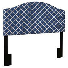 Upholstered Headboard - Quatrefoil Navy (Queen)