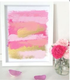Love this pink abstract art work.