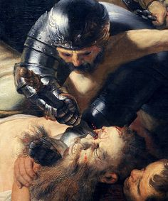 Rembrandt, The Blinding of Samson (detail), 1636.