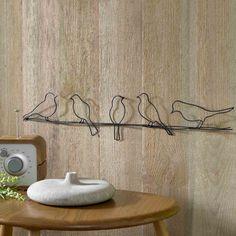 Graham & Brown Metallic Birds on a Wire Wall Art- at Debenhams.com