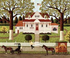 Ice Cream and Hopscotch by Charles Wysocki*