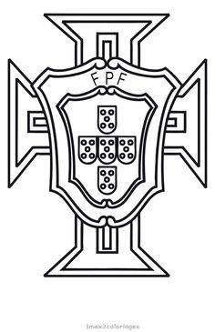 mondial 2018 en russie, coloriage du logo de l'équipe du Portugal de football,portugal the logo of the 2018 World Team coloring Foot Portugal, Portugal Logo, Portugal Team, Logo Football, Soccer Logo, Portugal Football, Benfica Logo, Psg, Portuguese Tattoo