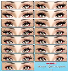 CC — sintiklia: Big set of eyelashes: few collections. Waldman margaretswaldman Jewelry CC — sintiklia: Big set of eyelashes: few collections. - CC — sintiklia: Big set of eyelashes: few collections… You Los Sims 4 Mods, Sims 4 Game Mods, Maxis, Sims 4 Cc Eyes, Sims 4 Mm Cc, Sims Four, Vêtement Harris Tweed, The Sims 4 Skin, The Sims 4 Cabelos