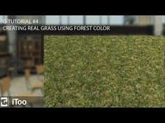 G-Tutorial #4 : How to create a realistic grass using forest color - YouTube