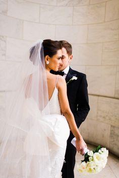 Chic NYC wedding: http://www.stylemepretty.com/new-york-weddings/new-york-city/manhattan/2015/04/29/classic-black-white-manhattan-central-park-wedding/   Photography: Trent Bailey - http://www.trentbailey.com/