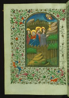 Christ praying in the Garden of Gethsemane  Text: Hours of the Cross: Prayer - Book of Hours-Bruges-W246