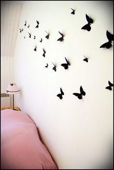 Déco, mur de papillons