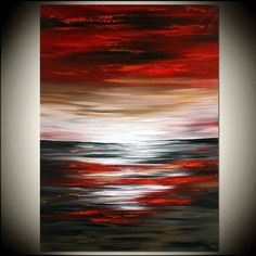 super Ideas for painting sunset acrylic abstract landscape Large Artwork, Modern Artwork, Large Painting, Texture Painting, Knife Painting, Abstract Landscape Painting, Abstract Canvas Art, Landscape Art, Landscape Paintings