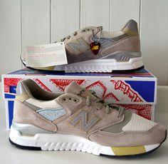 NIB! Mens NEW BALANCE 998 Sneakers SUEDE Tan 9 D MEDIUM Shoe RUNNING Connoisseur #NewBalance #AthleticSneakers