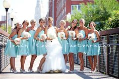 I love these bridesmaid colors