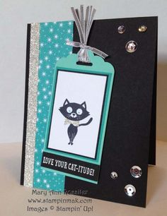 You Little Furball - FMS155 by stampinmak - Cards and Paper Crafts at Splitcoaststampers