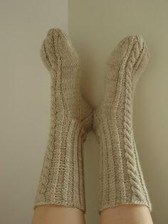 Villasukat/ Knitted socks.