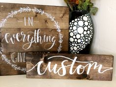 Custom Wood Sign 12 Inch Sign Handpainted by SweetpeetLettering