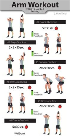 Arm workout for men - kettlebell workout - smashbell workout - Arm workouts for men – Get bigger arms 20 Min Training, Weight Training, Strength Training, Training Workouts, Arm Workout Men, Biceps Workout, Arm Workouts For Men, Arm Exercises Men, Kettlebell Exercises For Arms