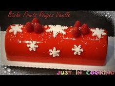 ❅ Recette de Bûche de Noël aux Fruits Rouges et à la Vanille ❅ - YouTube