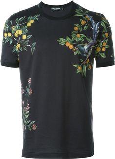 8d0e7494 Dolce & Gabbana citrus tree and bird print T-shirt. Brian Burnside · saint  tropez