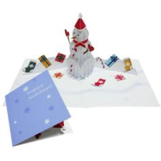 Pop-up Card (Snowman),Craft Cards,Card,Christmas,party,white,season,present