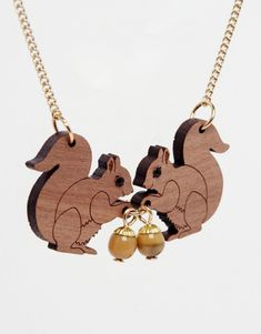 Squirrel Necklace | NOTICE Tatty Devine, Asos Online Shopping, Latest Fashion Clothes, Squirrel, Women Wear, Gold Necklace, Accessories, Inspiration, Jewelry