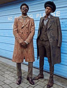 black-boys: Boyd Alves & Ty Ogunkoya by Olgaç Bozalp Street Style Fashion Week, Look Fashion, Trendy Fashion, Autumn Fashion, Fashion Design, Fashion Black, 70s Fashion Men, Seventies Fashion, Vintage Fashion