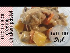 Creamy pastel is a hearty stew made of chicken slices, mushrooms, sausage in a rich creamy sauce. It is a meal in itself with the starch rich potatoes and ca. Chicken Pastel, Chicken Slices, Recipe Please, Creamy Sauce, Some Recipe, Creamy Chicken, The Dish, How To Cook Chicken, Tasty Dishes