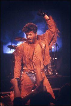 George Michael liked leather.... or tassles...