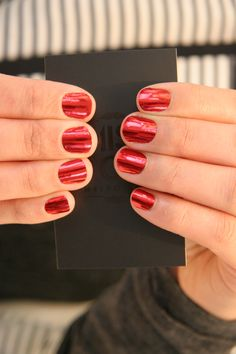Ready to wear Red Lightning Minx Nails
