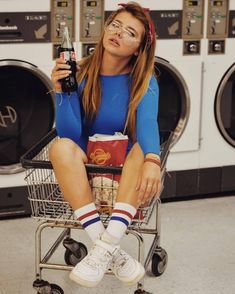 Easy Life Hacks For Wrinkled Clothes - 90's Old Retro Style Light Blue Jumper With White Sports Tube Socks With Red And Blue Stripes And Red Retro Headband